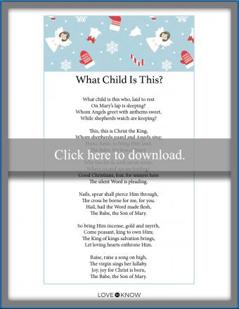 Christmas song lyrics What Child Is This