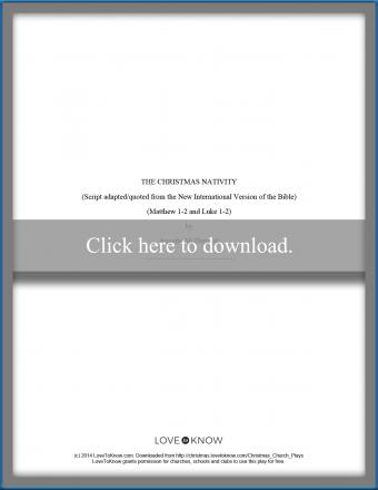 teen and adult printable nativity play