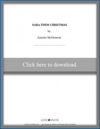 printable play Sara Finds Christmas