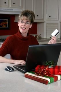 LDS church member Christmas shopping online