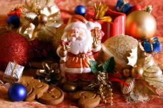 Image of Christmas ornaments, cookies and other decorations