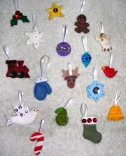 Advent calendar ornaments crafted by Amanda Cissner