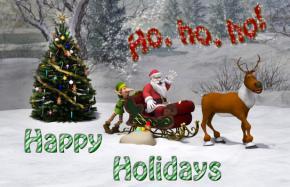 Printable Santa Christmas card