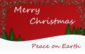Printable snowy Christmas card