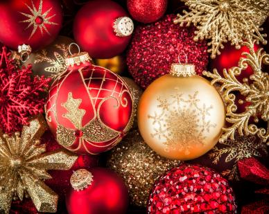 red and gold christmas ornaments - Where To Buy Christmas Decorations