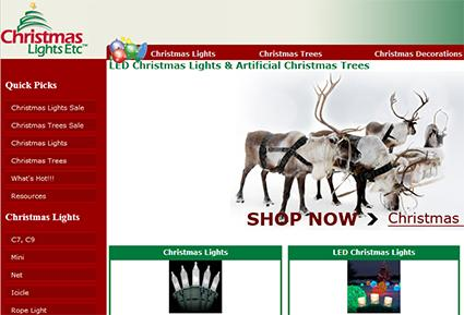 Christmas Lights Etc. online store