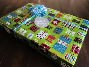 finished gift wrap