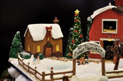Gingerbread farm scene