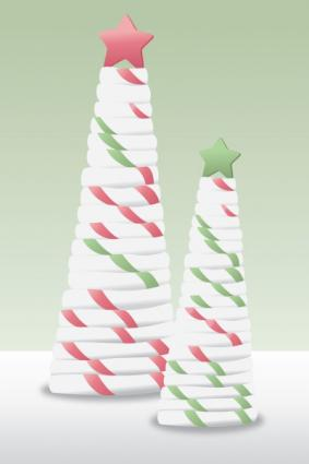 Fondant candy striped trees