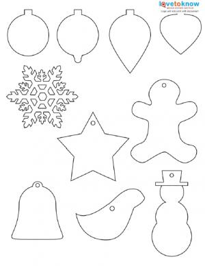 Printable Christmas Ornaments.Christmas Shapes To Print Lovetoknow