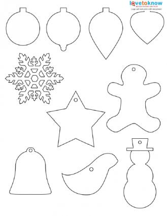 Free Christmas ornaments printable