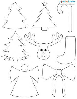free christmas shape printable - Cut Out Christmas Decorations