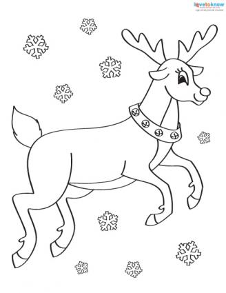 Christmas Pictures to Color 2 reindeer