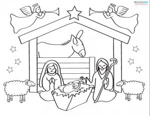 Printable Nativity Scenes 1