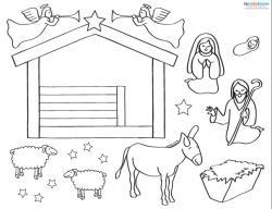 Nativity Scene Cut Out