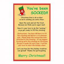 image regarding You Ve Been Socked Printable titled Progressive Xmas Traditions LoveToKnow