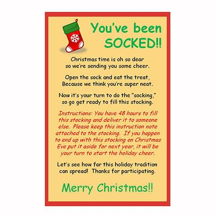 Socking with a Christmas Poem