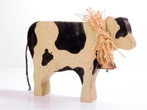 Cow decoration with a bow