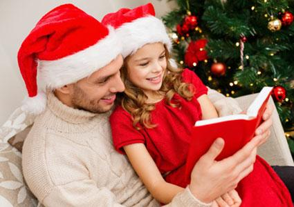Reading Christmas poetry together