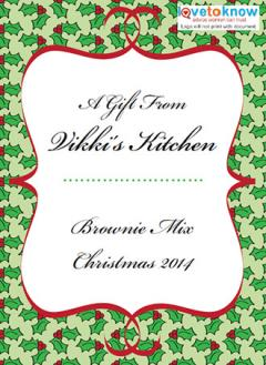 food gift label