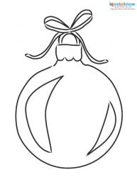 Christmas Pictures to Color ornament 1
