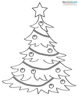 Christmas Pictures to Color tree 1