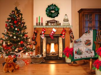 primitive country christmas - How To Decorate A Fireplace For Christmas