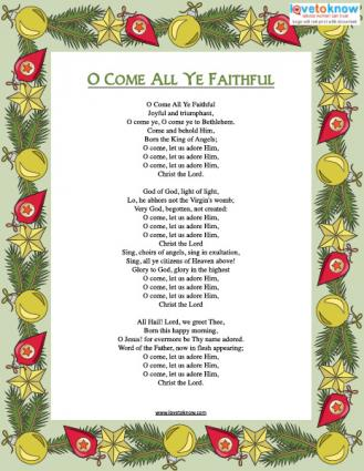 picture about Printable Christmas Songs referred to as Printable Xmas Carols LoveToKnow