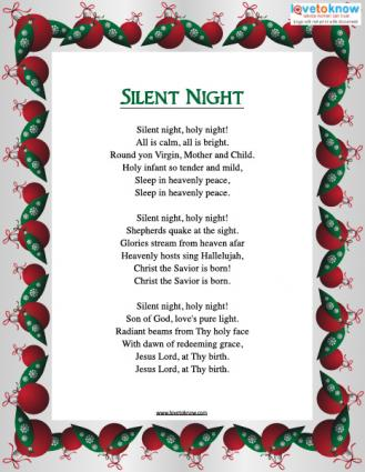 Xmas Songs 2016 Silent Night