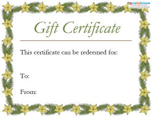 printable holiday gift certificates