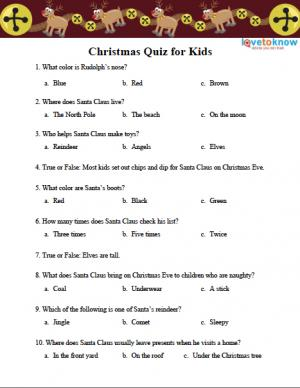 Quizzes For Kids