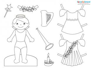 image relating to Free Printable Paper Dolls Black and White known as Printable Xmas Paper Dolls LoveToKnow