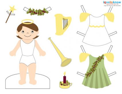 Click to download the angel paper doll.