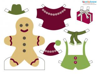 Print the colorful gingerbread boy doll.