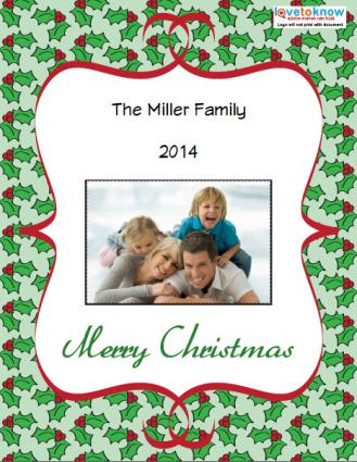 Click to download the holly card.