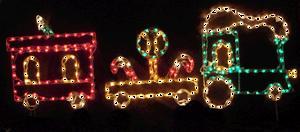 animated train Christmas lights