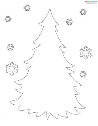 Printable Christmas tree Advent calendar