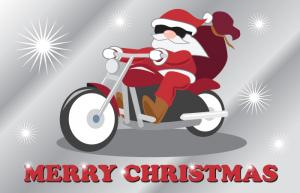 Christmas Card Motorcycle 1