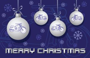 Christmas Card Motorcycle 2