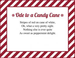 graphic about Candy Cane Poem Printable referred to as Sweet Cane Poems LoveToKnow