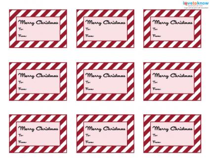 Red and white printable gift tags
