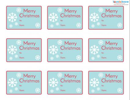 Printable snowflake gift tags