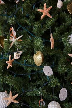 Beachy Christmas tree decorations