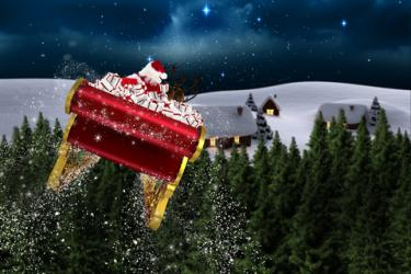 Santa in his sleigh; © Wavebreakmedia Ltd | Dreamstime.com