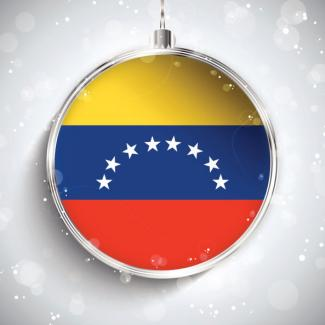 Silver ball with Venezuelan flag