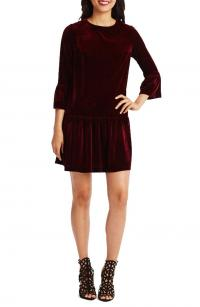 Donna Morgan Stretch Velvet Shift Dress