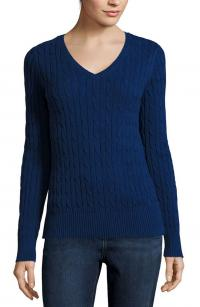 St. John's Bay Long Sleeve Cable Knit Sweater
