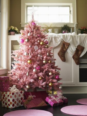 pink christmas tree - Pink Christmas Decorations