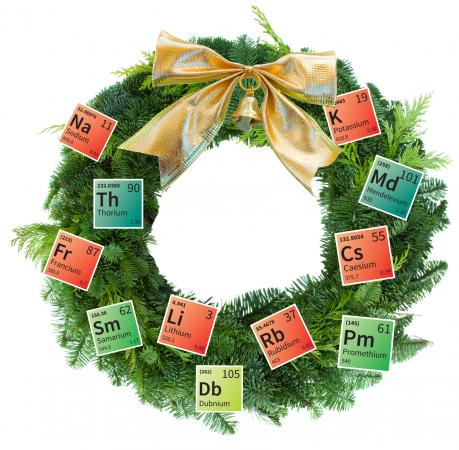 periodic table wreath