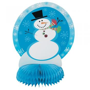 Paper snowman centerpiece at Amazon